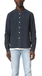 Ymc Long Sleeve Baseball Shirt Navy