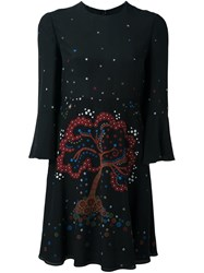 Valentino 'Cherry Tree' Dress Black
