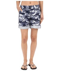 Carhartt Relaxed Fit El Paso Shorts Camo Deep Blue Women's Shorts