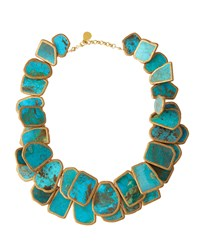 Devon Leigh Copper Infused Turquoise Statement Necklace Women's