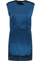 Helmut Lang Layered Silk Tunic Blue