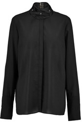 Just Cavalli Stretch Chiffon Blouse Black