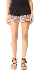 Chloe Oliver Brazillian Night Smocked Shorts Black Blush