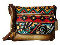 Anuschka 585 Antique Aztec Handbags Brown