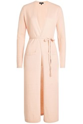 Theory Belted Cashmere Cardigan Rose