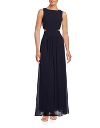 Nicole Miller Cutout Gown Navy