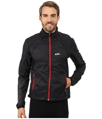 Louis Garneau Cabriolet Cycling Jacket Black Red Men's Workout