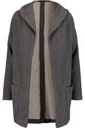 James Perse Cotton Jersey Hooded Jacket Gray