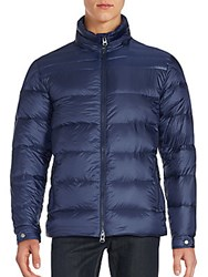 Saks Fifth Avenue Quilted Zipper Jacket Navy