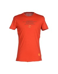 Dekker Topwear T Shirts Men Red