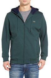 Lacoste Men's Fleece Zip Hoodie Kelp Navy Blue