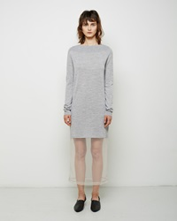 Maison Martin Margiela Tulle Layer Knit Tunic Light Grey