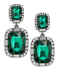 Robert Rose Emerald Crystal Drop Earrings