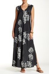 Biya Sleeveless Printed Silk Maxi Dress Multi
