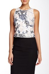 Phoebe Couture Sequined Crop Tank Multi