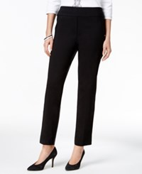Alfred Dunner Petite Wrap It Up Cropped Pants Black