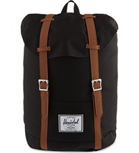 Herschel Retreat Backpack Black Tan Pu