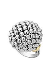 Lagos 'Caviar Forever' Large Dome Ring Silver Gold