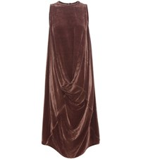 Rick Owens Velvet Dress Brown
