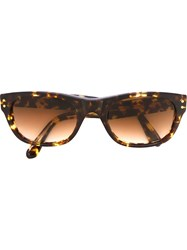 Yves Saint Laurent Vintage Tortoise Shell Sunglasses Brown