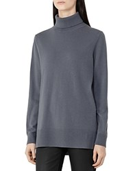 Reiss Ina Merino Wool Turtleneck Sweater Graphite