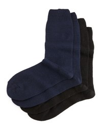 Neiman Marcus Cashmere Blend Two Pack Socks Black Navy