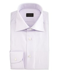 Ermenegildo Zegna Textured Glen Plaid Woven Dress Shirt Lavender