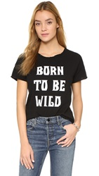 Style Stalker Born To Be Wild Distressed Tee Washed Black