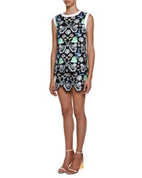 Emilio Pucci Sleeveless Seashell Print Top Acqua Zaffiro Women's