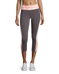 The Balance Collection Colorblock Tie Dye Capri Leggings Peach Gray