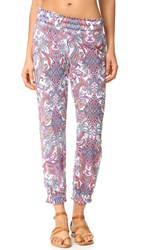 Luli Fama Rebeldia Smocked Gypsy Pants Multi