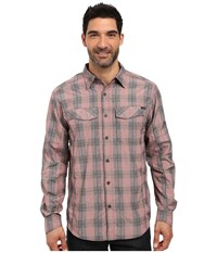 Columbia Silver Ridge Plaid L S Red Element Heahtered Plaid Men's Long Sleeve Button Up Multi