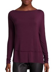 Free People Luna Hi Lo Tee Wine Black