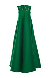 Maison Rabih Kayrouz Sleeveless Satin Gown Green