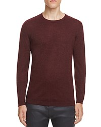 Hugo Salex Textured Crewneck Sweater 100 Bloomingdale's Exclusive Burgundy Black
