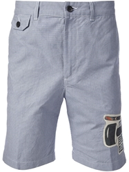 Golden Goose Deluxe Brand Houndstooth Check Shorts White