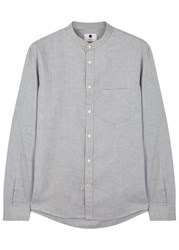 Nn.07 Devon Light Grey Cotton Shirt