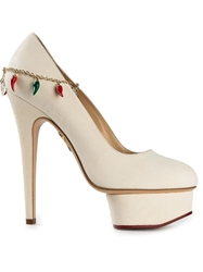Charlotte Olympia 'Hot Dolly' Platform Stiletto Pumps White