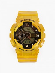 Casio Yellow Metallic Camouflage Ga 100Cm Watch