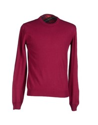 Altea Knitwear Jumpers Men Garnet