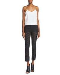 Cnc Costume National Mid Rise Skinny Cropped Trousers Black