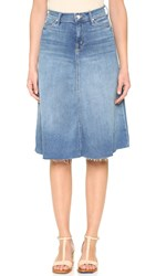 Mother Double Fray Circle Skirt Birds Of Paradise