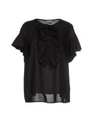 Douuod Shirts Blouses Women Black