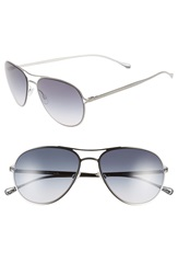 Paul Smith 'Surrey' 57Mm Aviator Sunglasses Brushed Silver Pacific