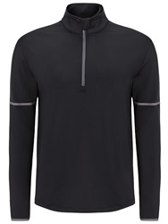 Callaway Plain Half Zip Neck Zip Fastening Jumpers Dark Grey