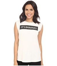 Rachel Zoe Lettie Bananas Tee White Black Women's Clothing
