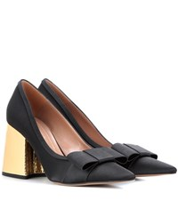 Marni Embellished Satin Pumps Black