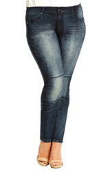 City Chic 'New Yorker' Stretch Skinny Jeans Mid Denim Plus Size