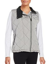 Marc New York Quilted Performance Vest Silver Grey