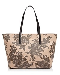 Michael Michael Kors Emry Lace Large Top Zip Tote Oyster Gold
